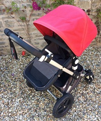 Bugaboo-Cameleon-3-Pram-Pushchair-Single-Seat-Stroller-Red-Hood-Complete-VGC1