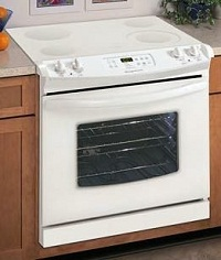 Frigidaire electric oven and ceramic top cooker