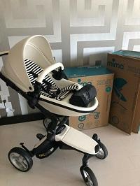 White Mima Xari stroller