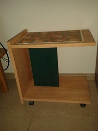 Wooden 2 layer trolley table