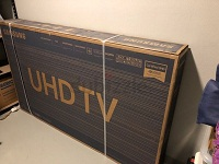 new boxed samsung 75 inch 4k tv for sale.