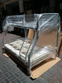 selling brand new up single down double bunk beds silver