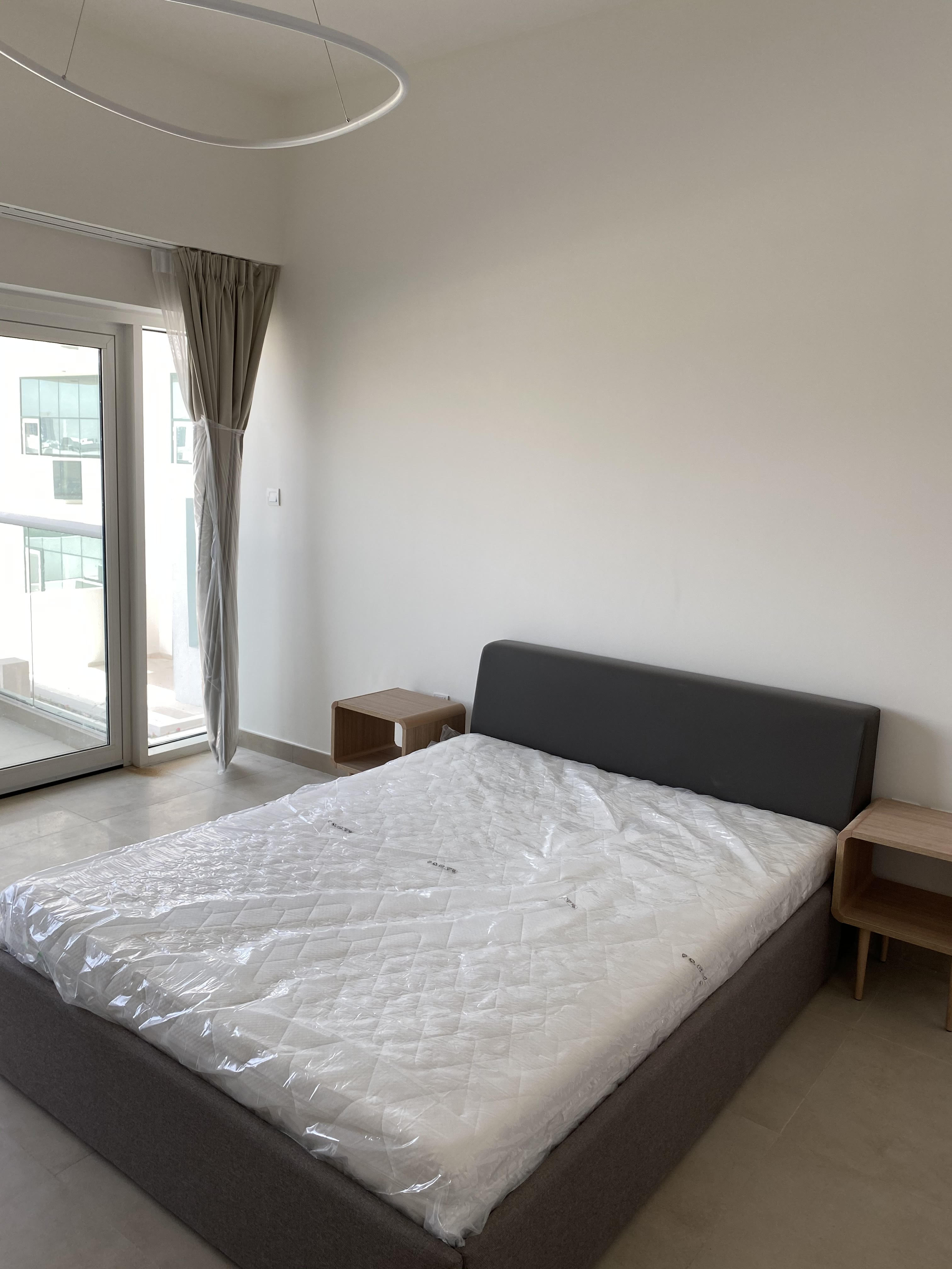 Queen Size Mattress, Bed and 2 Side Tables