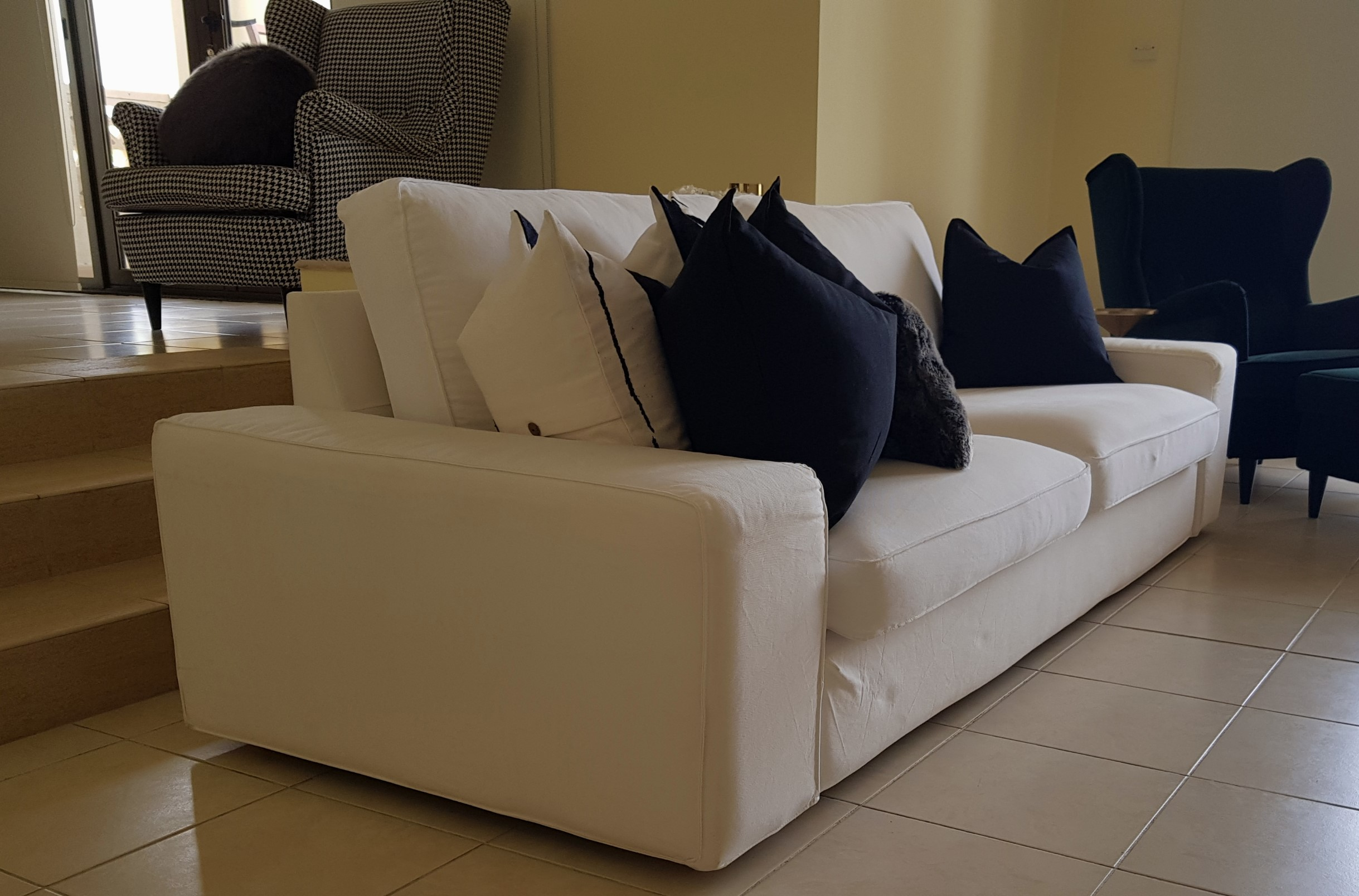 3 seater sofa side view