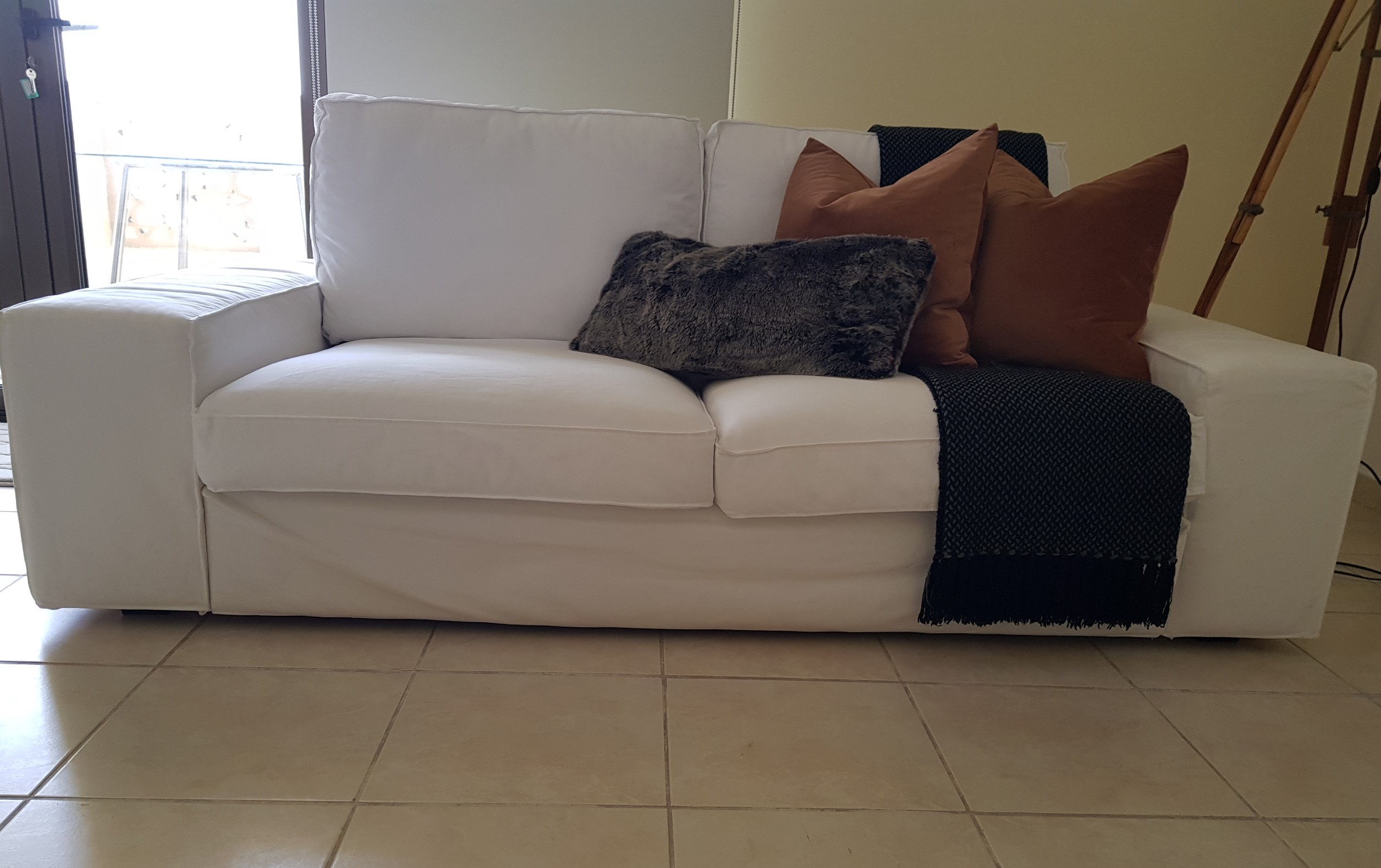 2 seater sofa front view